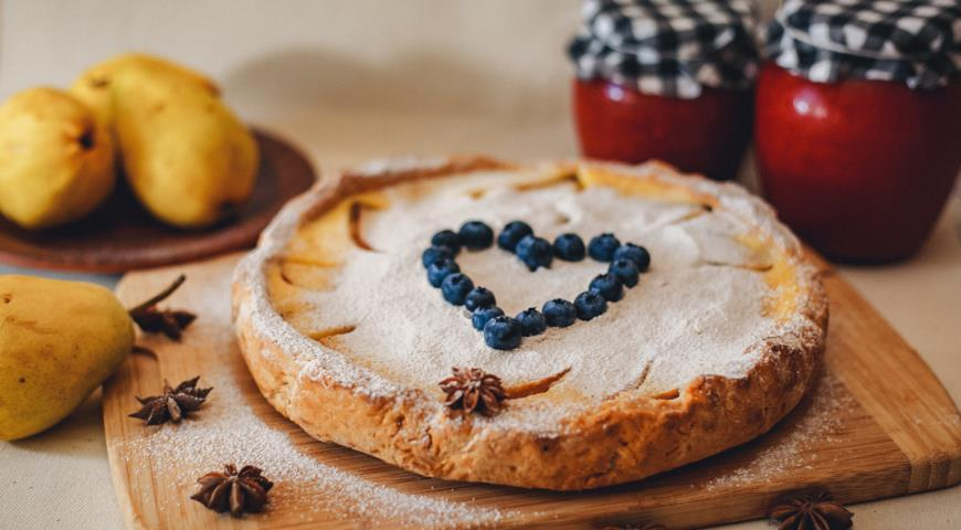 Цветаевский пирог с грушами
