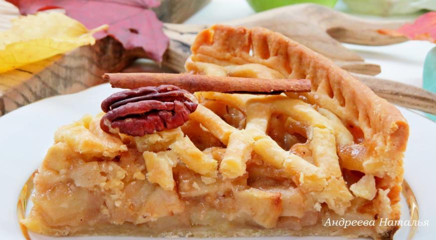 яблочный пирог с решеткой