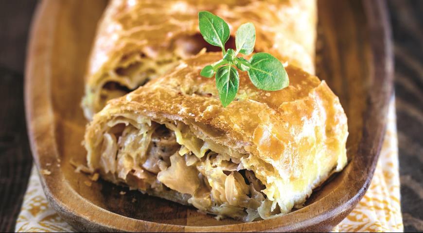 штруделя с мясом картофелем капустой фото рецепт