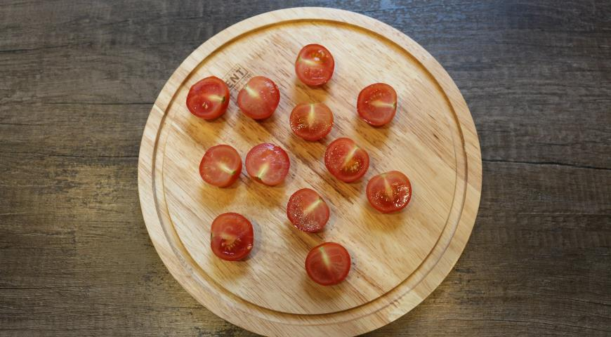 Салат с баклажанами под ореховой заправкой. Шаг 4
