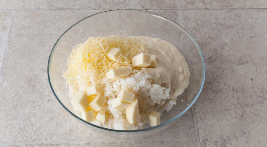 Фото приготовления рецепта: Хрустящие аранчини с соусом бешамель, шаг №6