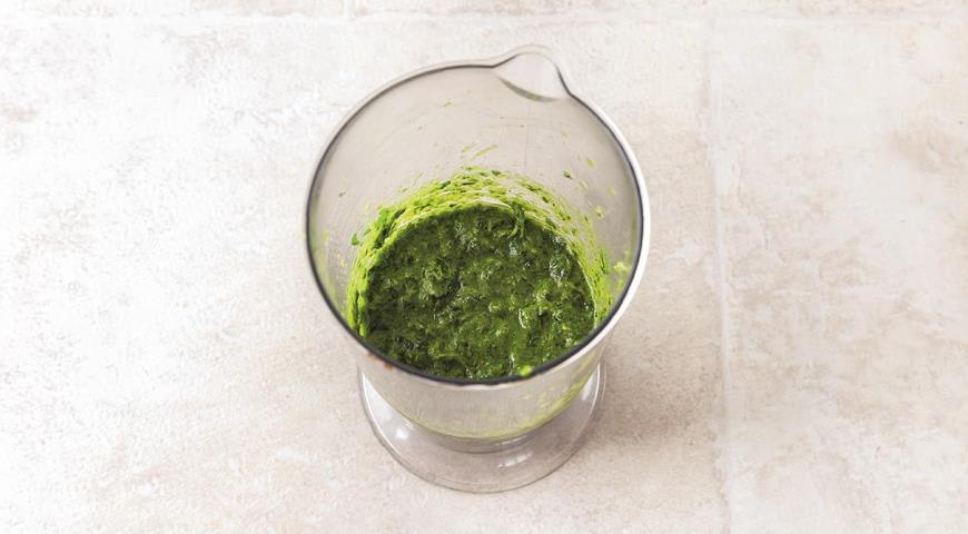 Фото приготовления рецепта: Суп из печеных овощей с зеленью, шаг №3
