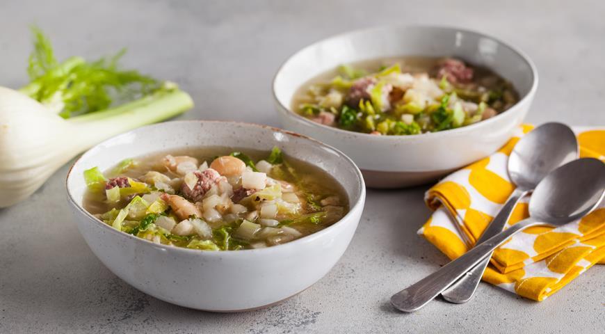 Суп из белой фасоли и фенхеля