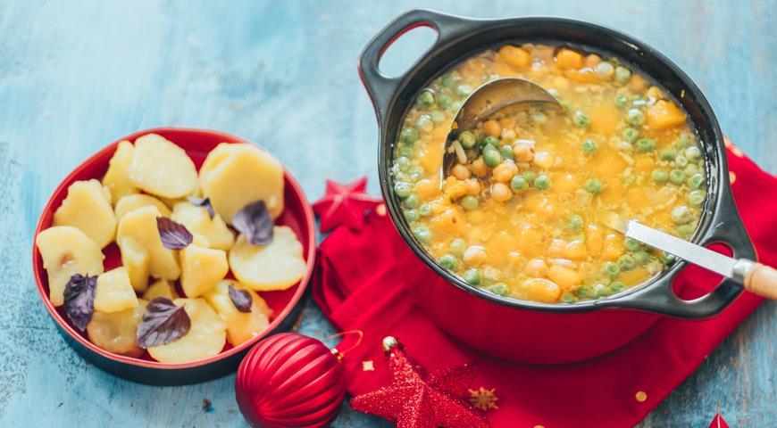 Овощной суп с ароматом баранины