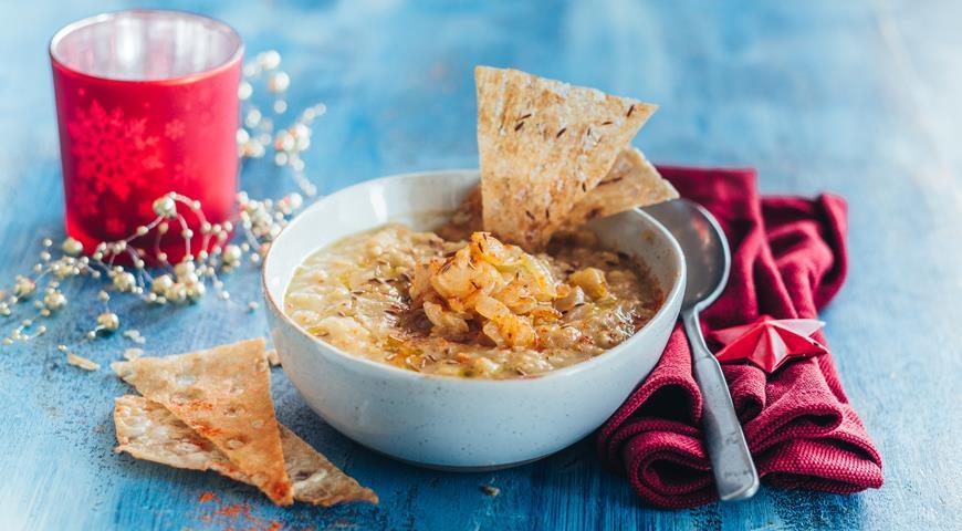 Ливанский чечевичный суп макхлута