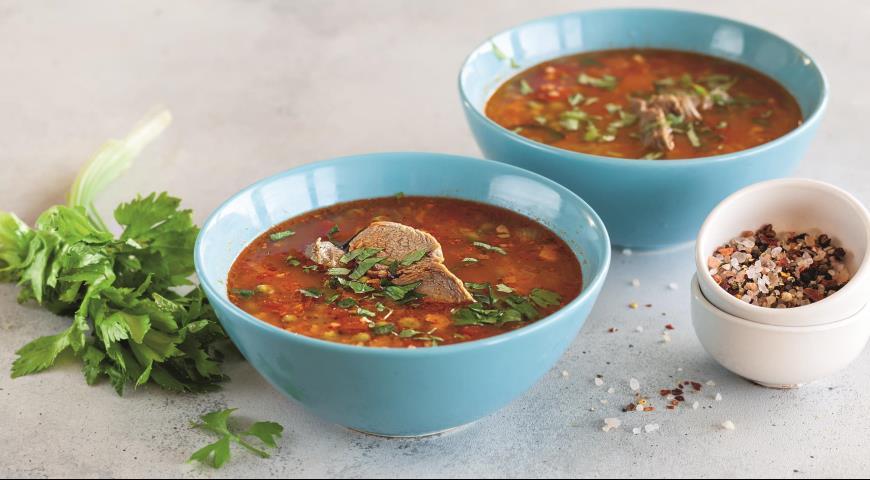 Зимний томатный суп с кускусом и говядиной