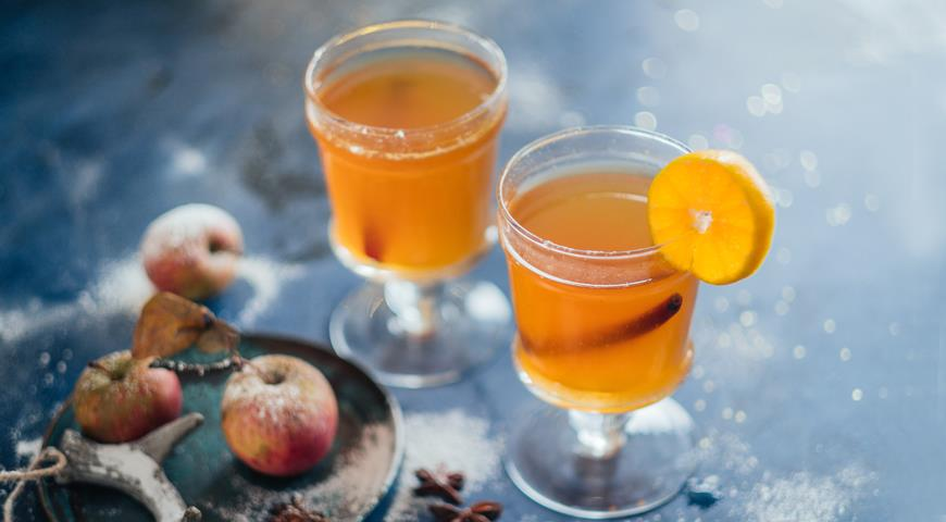 Глинтвейн «Горячий сидр и пряный мандарин», пошаговый рецепт с фото