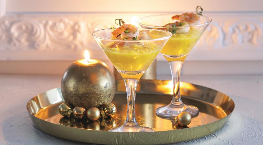 Креветки с пюре из манго, пошаговый рецепт с фото