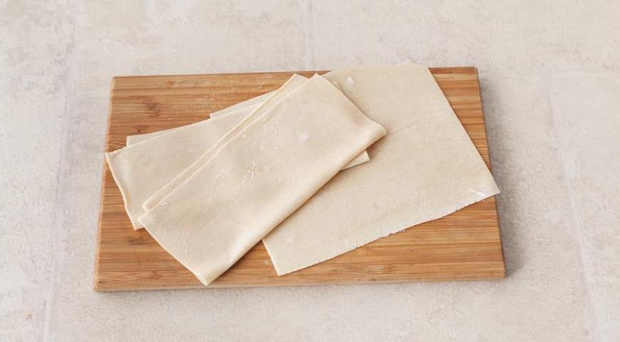 Відкриті манти з картоплею і яловичиною