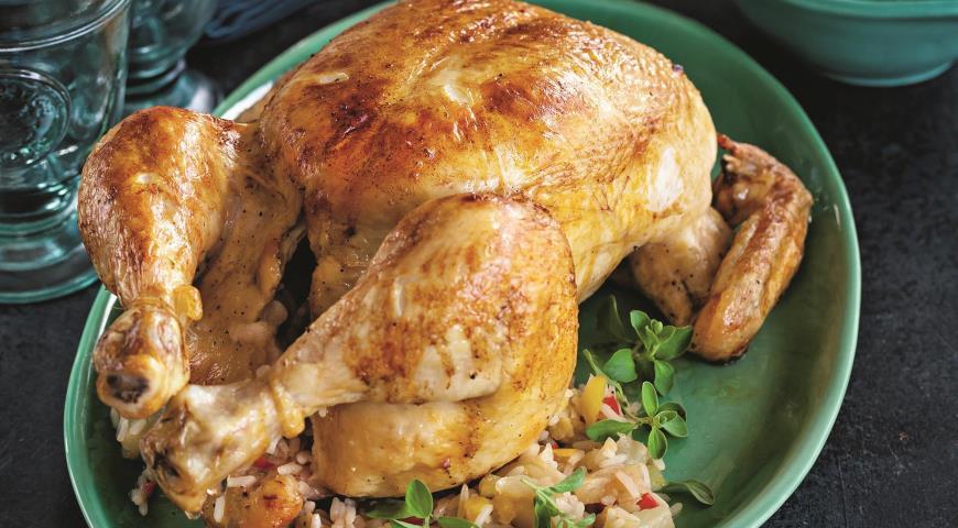 Фаршированная курица по-карибски 2