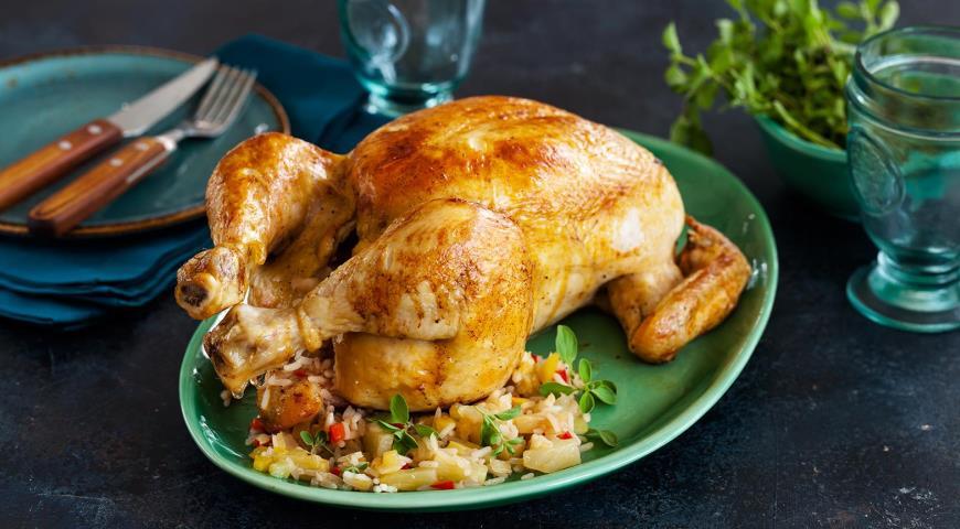 Фаршированная курица по-карибски