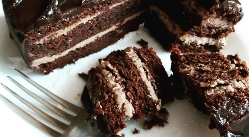 шоколадный пражский торт