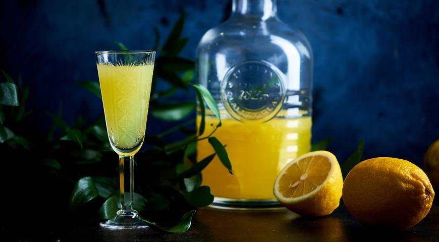 Домашний лимончелло, пошаговый рецепт с фото