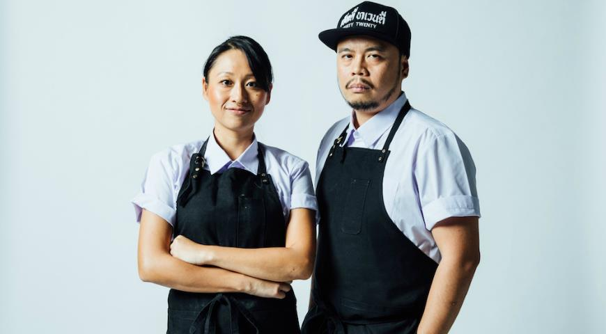шеф-повар 'Joe' Napol Jantraget и шеф-кондитер Saki Hoshino