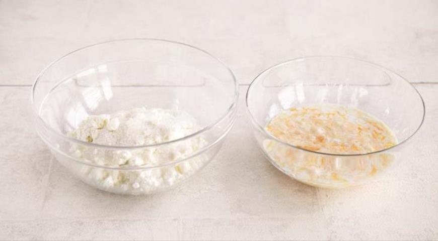 Фото приготовления рецепта: Русский крупеник из пшена с творогом, шаг №3