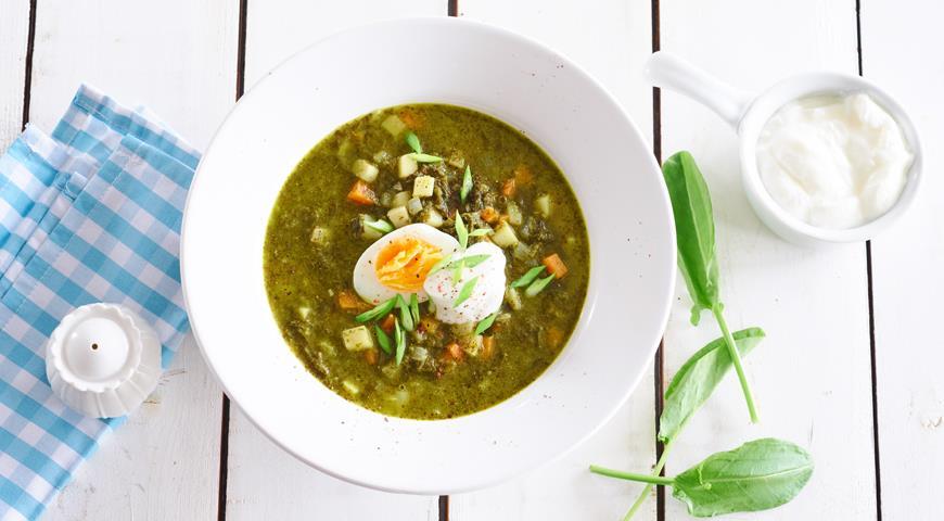 Зеленые щи из крапивы и щавеля , пошаговый рецепт с фото