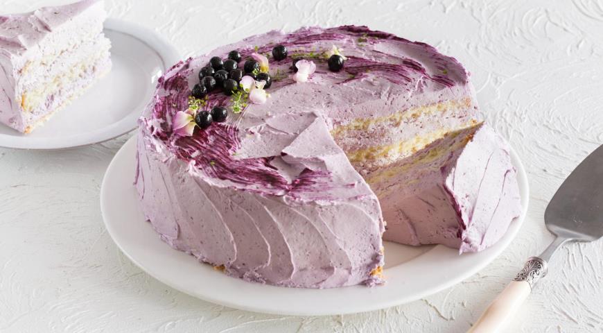 Торт с ягодным кремом