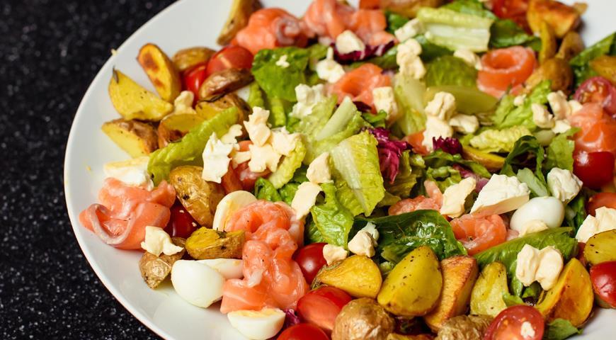 Финский салат с лососем слабой соли