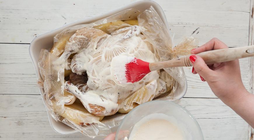 Курица с картофелем, запеченная в рукаве
