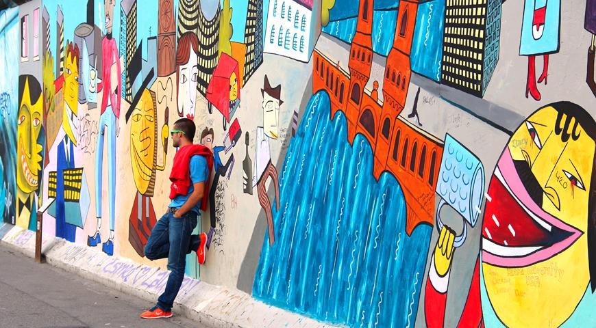Современный Берлин славится своими граффити