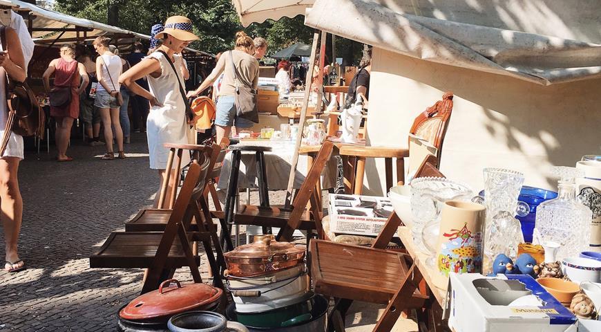 На блошином рынке на Boxhagener Platz можно купить всякую всячину