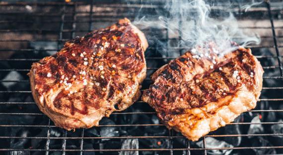 Как готовить стейк из говядины на углях
