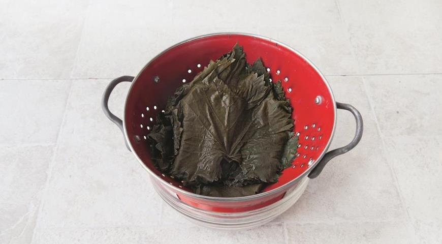 Классическая долма, готовим маринованные виноградные листья для приготовления