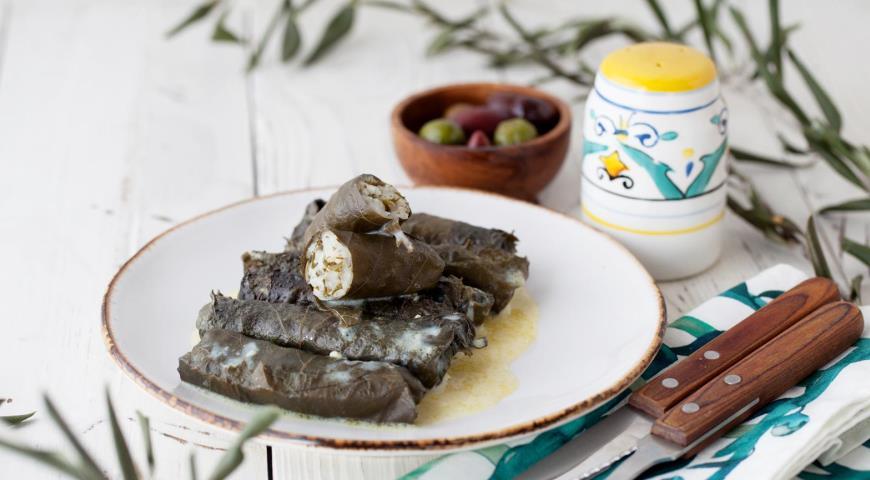 Полезная долмадакья – долма по-гречески, пошаговый рецепт с фото