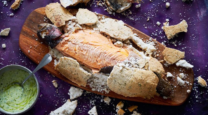 Карельская форель в розмариновой соли, пошаговый рецепт с фото