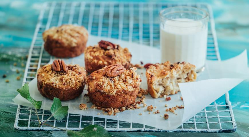 Яблочные кексы на завтрак, пошаговый рецепт с фото