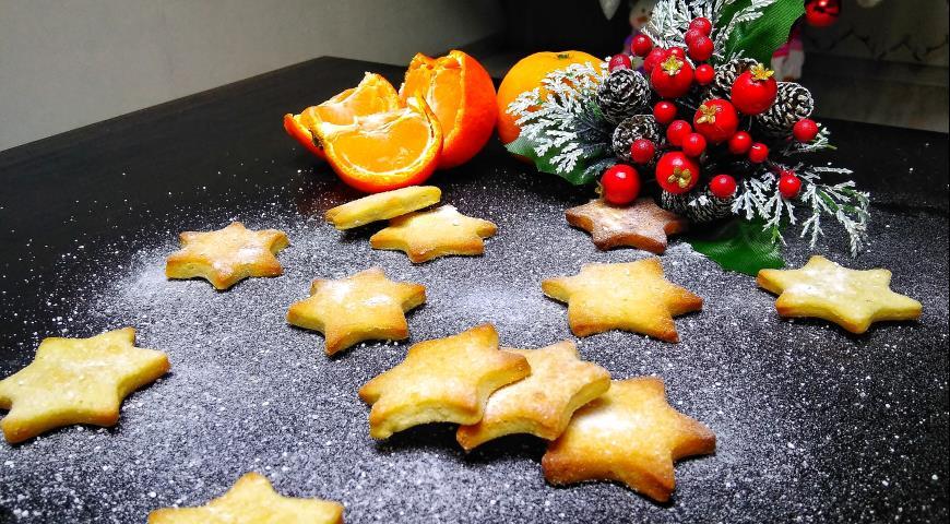Печенье Апельсиновые звезды с корицей, пошаговый рецепт с фото