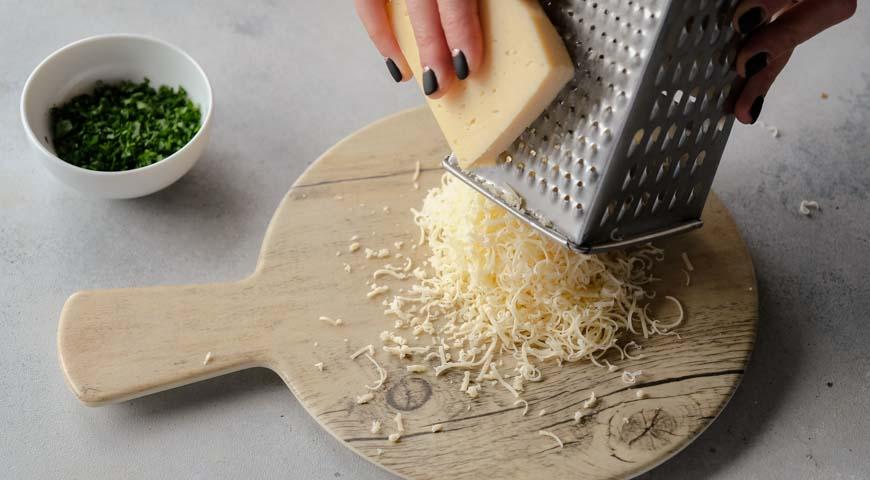 Салат Мимоза, сыр натереть на терке
