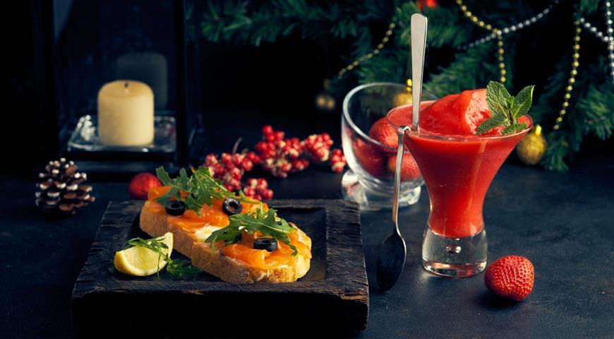 Брускетты с лососем и маскарпоне, пошаговый рецепт с фото