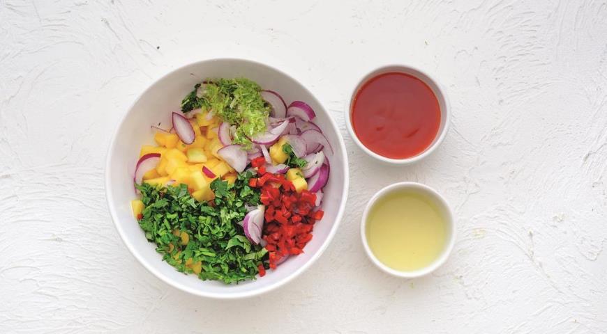Карпаччо из телятины с сальсой из манго и лайма, пошаговый рецепт с фото