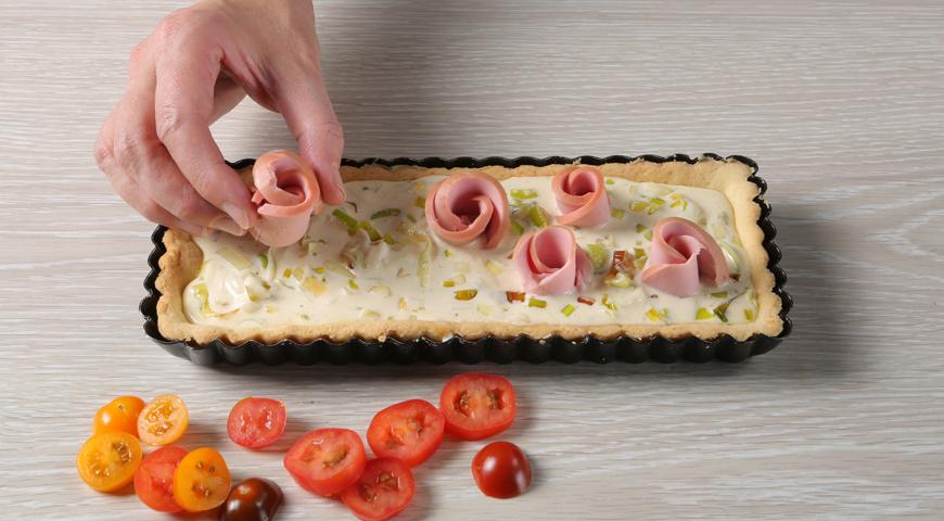 Тарт с вареной колбасой, пошаговый рецепт с фото