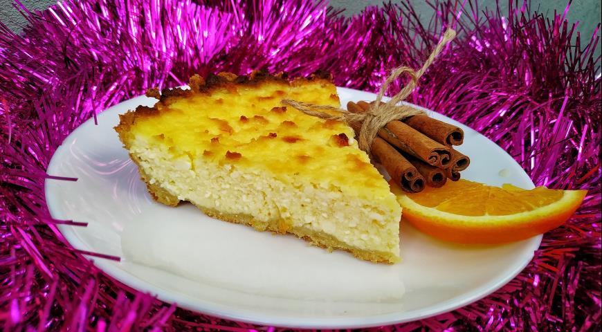 Творожный пирог с апельсином (кезекухен), пошаговый рецепт с фото
