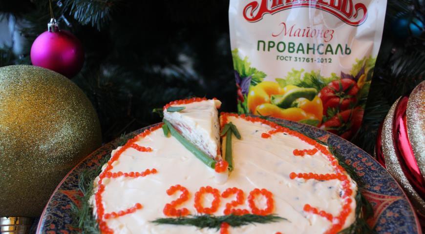 """Блинный торт """"Без пяти минут"""" с майонезом Махеевъ, пошаговый рецепт с фото"""
