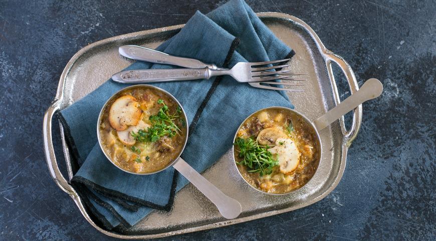 Жюльен из курицы с грибами, пошаговый рецепт с фото
