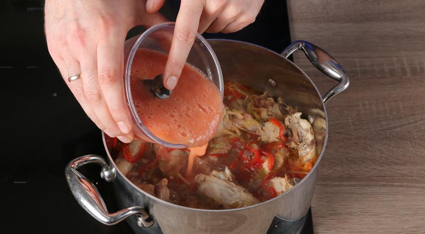 Чахохбили классический, добавьте помидоры к курице