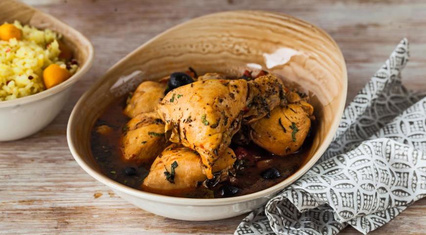 Тушеная курица из Ниццы, пошаговый рецепт с фото