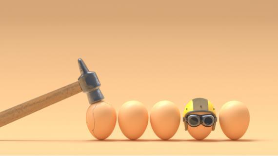 Как сохранить разбитые яйца