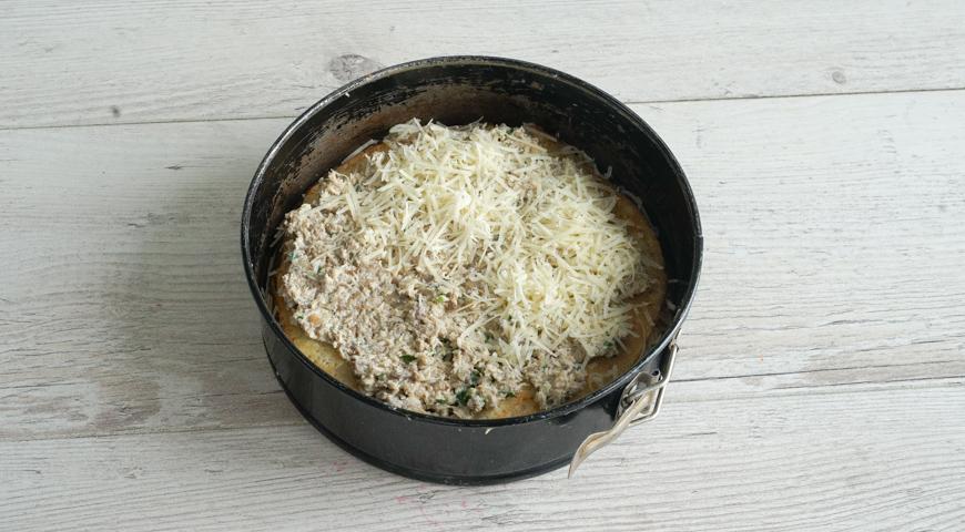 Блинный пирог с курицей, пошаговый рецепт с фото