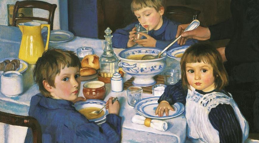 Зинаида Серебрякова. «За завтраком», 1914 г.