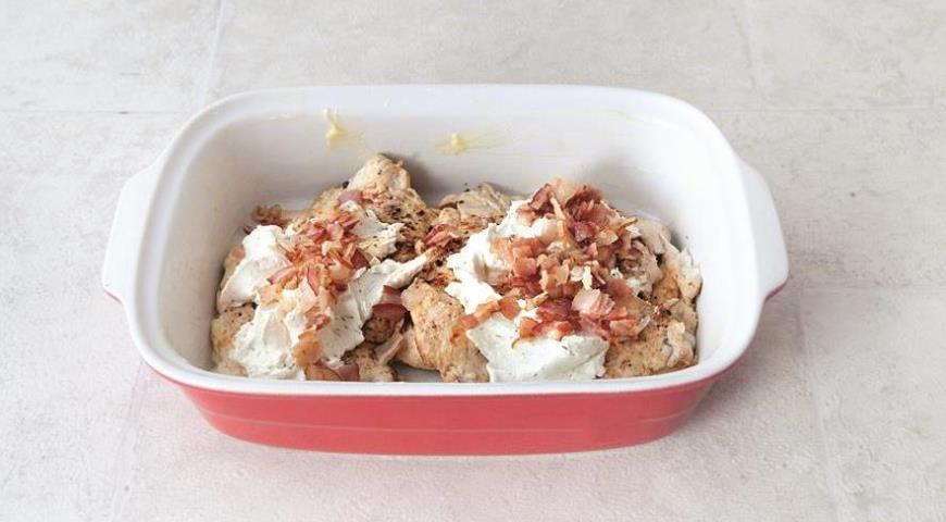 Куриное филе со сливочным сыром и беконом, пошаговый рецепт с фото