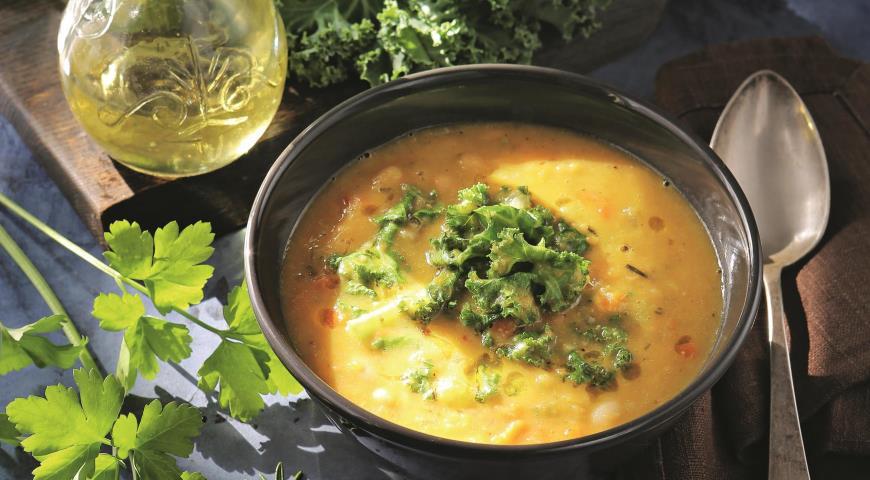 Крем-суп из белой фасоли с кейлом 2