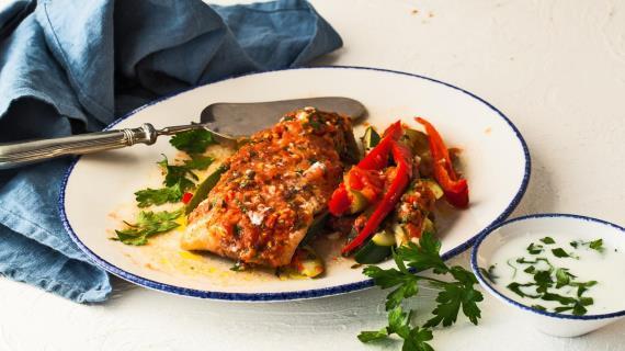 Рыба с овощами в конверте