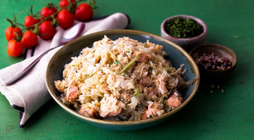 Постный салат с рыбой, Заходник