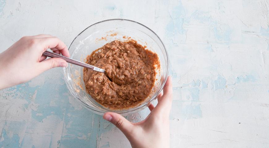 Постное домашнее печенье, смешайте игредиенты