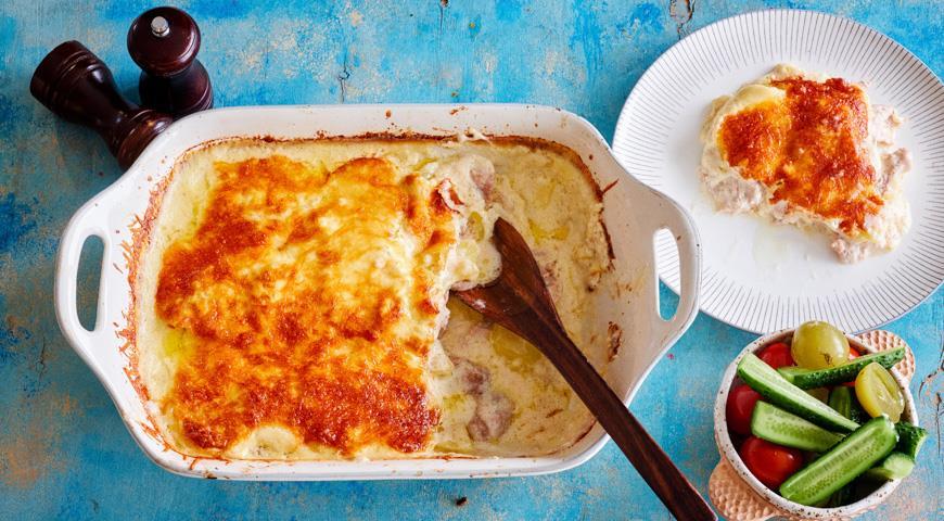 Индейка с картофелем в соусе бешамель, пошаговый рецепт с фото