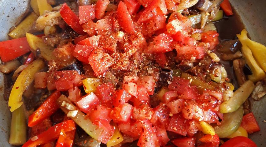 Фото приготовления рецепта: Овощи по-ближневосточному за 30 минут, шаг №6